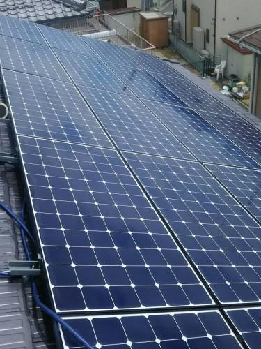 S様邸:蓄電池設置と太陽光パネルのコーティング