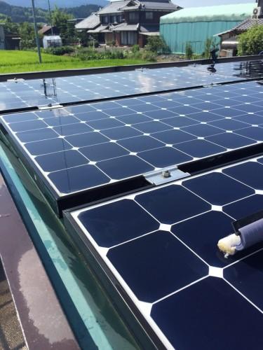 K様邸:太陽光パネルのコーティング