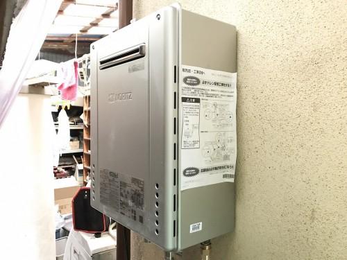 築42年戸建のガス給湯器入替工事のご紹介です。