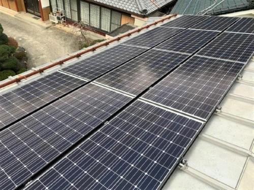 太陽光パネル設置のご紹介です。