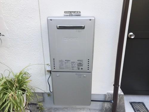 築32年戸建てのガス給湯器設置工事のご紹介です。
